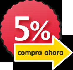 Promoción 5% descuento chapas personalizadas Camaloon