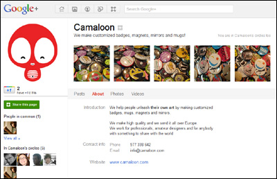 Camaloon en Google Plus