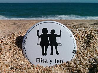 Chapa de Elisa y Teo