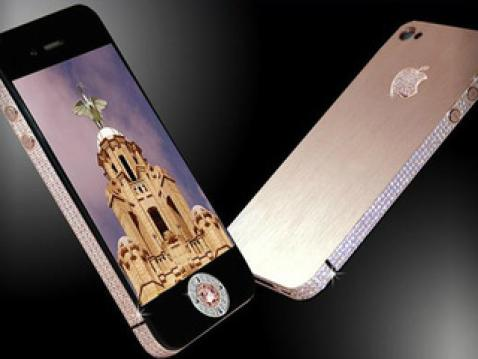 iPhone de oro y diamantes