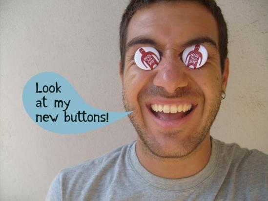 Camaloon Buttons mit Motiv