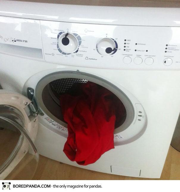 Waschmaschine mit Gesicht