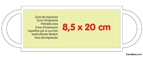 modelo área impressão caneca personalizada