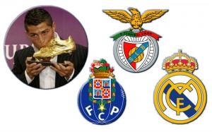 bota de ouro Cristiano Ronaldo golden crachá Porto Benfica
