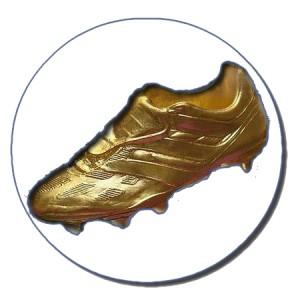 bota de ouro Cristiano Ronaldo golden crachá