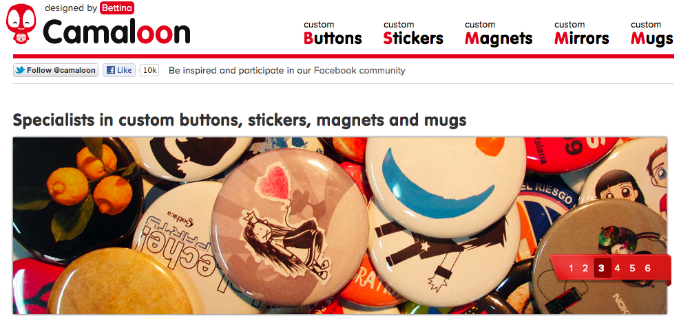 Camaloon buttons
