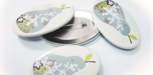 Pin Buttons oval shaped