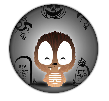 Camaloon Button for Halloween