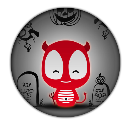 Vampire Halloween Button from Camaloon