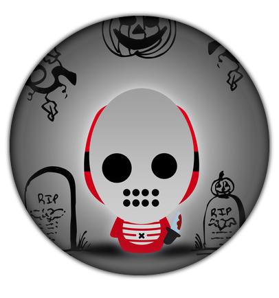 Jason Halloween Buttons from Camaloon