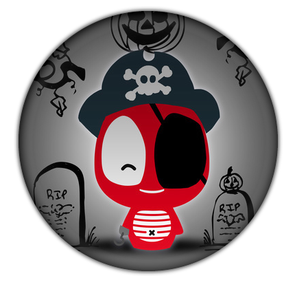 Pirate Button for Halloween