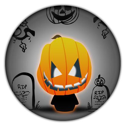Jack o Lantern Halloween Camaloon Button