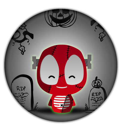 Camaloon Frankenstein Halloween Button