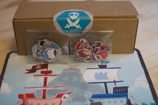 Game and decoration for fridge pirate attack on camaloon