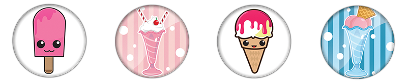 ice creame Pins