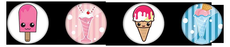 ice creame Pins