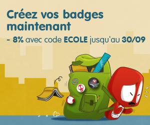 Camaloon badges pour l'ecole